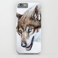 iPhone & iPod Case featuring Heterocromia wolf by Laura MSS