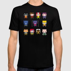Pixel X-Men SMALL Mens Fitted Tee Black