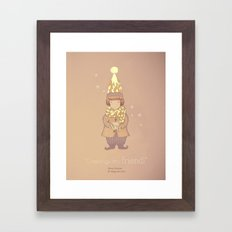 Christmas creatures- The Visiting Friend Framed Art Print