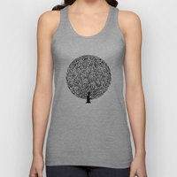 Black and White Tree Unisex Tank Top
