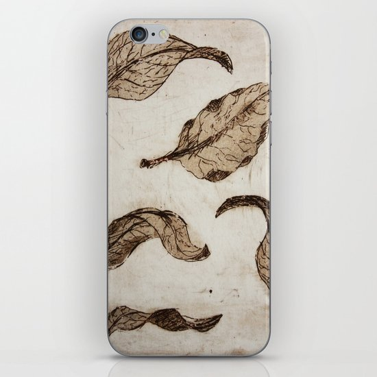 aquatint leaves iPhone & iPod Skin