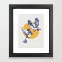 Sparrows Framed Art Print