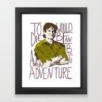 Robin Williams Hook Pete… Framed Art Print
