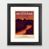 Retro Travel Poster Series - Star Wars - Mustafar Framed Art Print