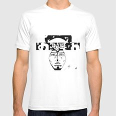 Don D. Rapper SMALL White Mens Fitted Tee