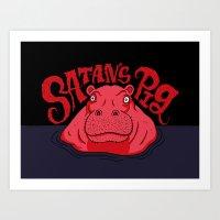 Satan's Pig Art Print