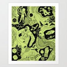 Cosmic Atomic  Art Print