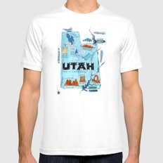 UTAH Mens Fitted Tee White SMALL