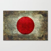 The National Flag Of Jap… Canvas Print