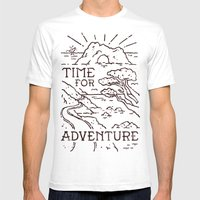 Time For Adventure Mens Fitted Tee White SMALL