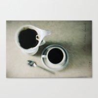 coffee.black Canvas Print