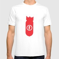 F Bomb Mens Fitted Tee White SMALL