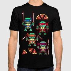 Teenage Mutant Ninja Turtles Pizza Party Black Mens Fitted Tee SMALL