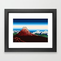 Rainstorm Below The Summ… Framed Art Print