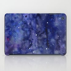 Night Sky Galaxy Stars | Watercolor Space Texture iPad Case