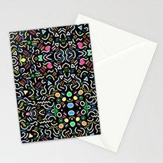 retro confetti Stationery Cards