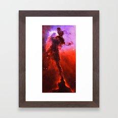 Red Nebula Framed Art Print