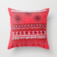 Yzor Pattern 007-3 Pink Throw Pillow