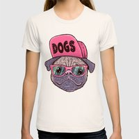 Dogs Womens Fitted Tee Natural SMALL