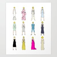 Outfits Of Marilyn Fashi… Art Print