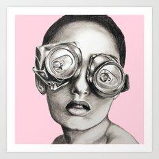 Sugarfree pale pink Art Print