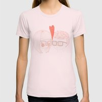 Nerd Kiss Womens Fitted Tee Light Pink SMALL
