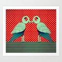 parrot dot ! Art Print