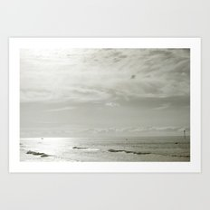 White Sunset Art Print