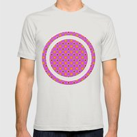Glo-Dots! Mens Fitted Tee Silver SMALL