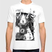 machine Mens Fitted Tee White SMALL