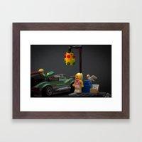 Red Light Framed Art Print