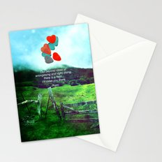 there is a field... I'll meet you there. Stationery Cards