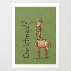 Cleo - green Art Print