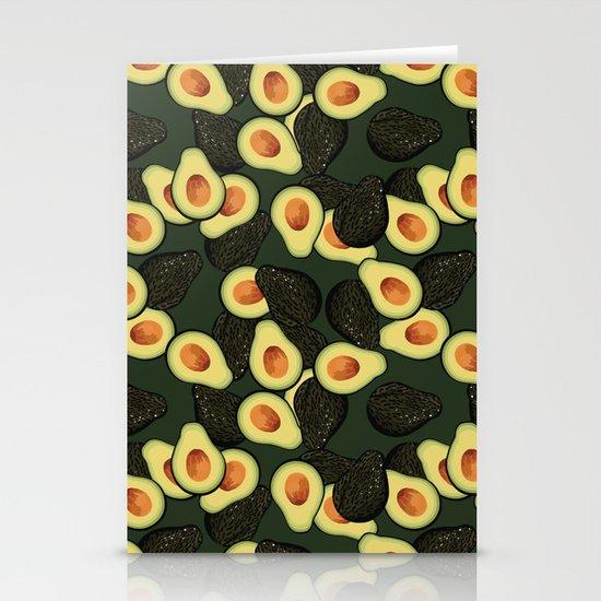 Avocado Pattern Stationery Card