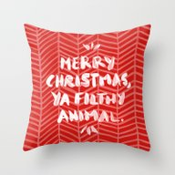 Merry Christmas, Ya Filt… Throw Pillow