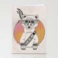 Indian Summer Bear Stationery Cards