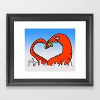 Monster Love Framed Art Print