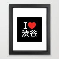 I ♥ Shibuya Framed Art Print