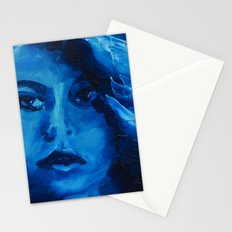 THE BLUE QUICK PORTRAIT Stationery Cards