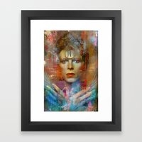 Ziggy in the sky  Framed Art Print