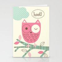 Hooty Owl Stationery Cards