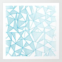 Abstraction Lines Waterc… Art Print