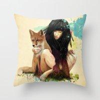 Fox Love Throw Pillow