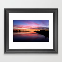 Sunset on the San Diego River Framed Art Print