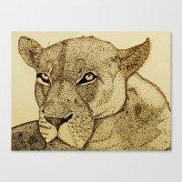 Canvas Print featuring Lion by Phil Janasz