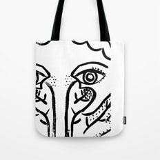 Girl and leaf Tote Bag