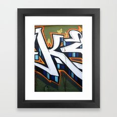 Graffiti in East Austin Framed Art Print