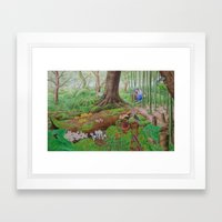 A Day Of Forest (5). (de… Framed Art Print