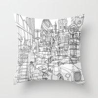 London! Throw Pillow
