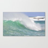 Making Waves Pillow Canvas Print